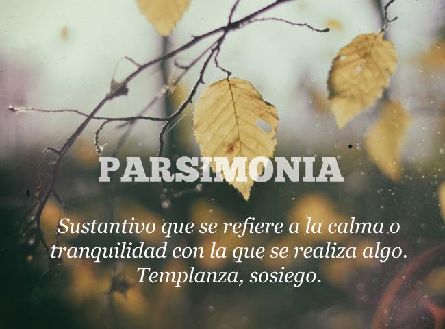 Palabras: parsimonia