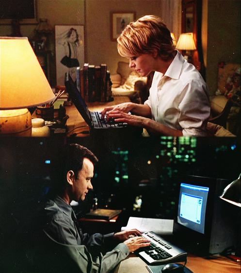 Joe & Kathleen. Nada más tierno (y cliché) que Meg Ryan y Tom Hanks.