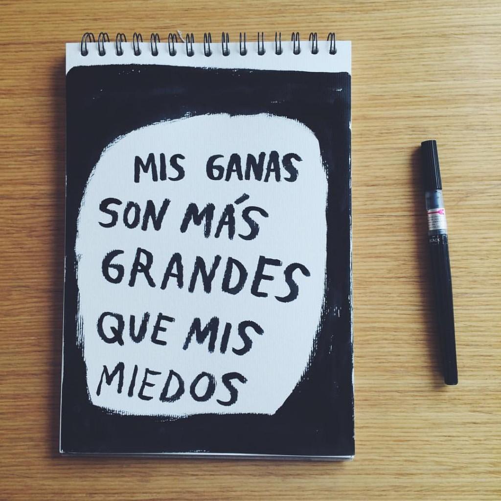 Mis ganas son más grandes que mis miedos (Amalia Andrade)