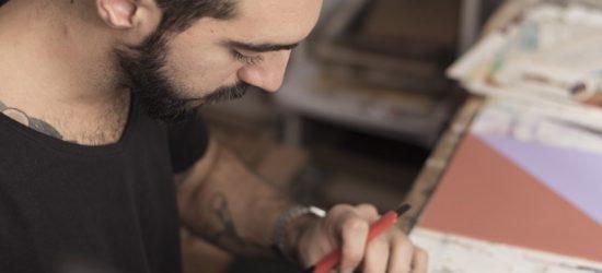 Ignacio Rivas, trabajando.