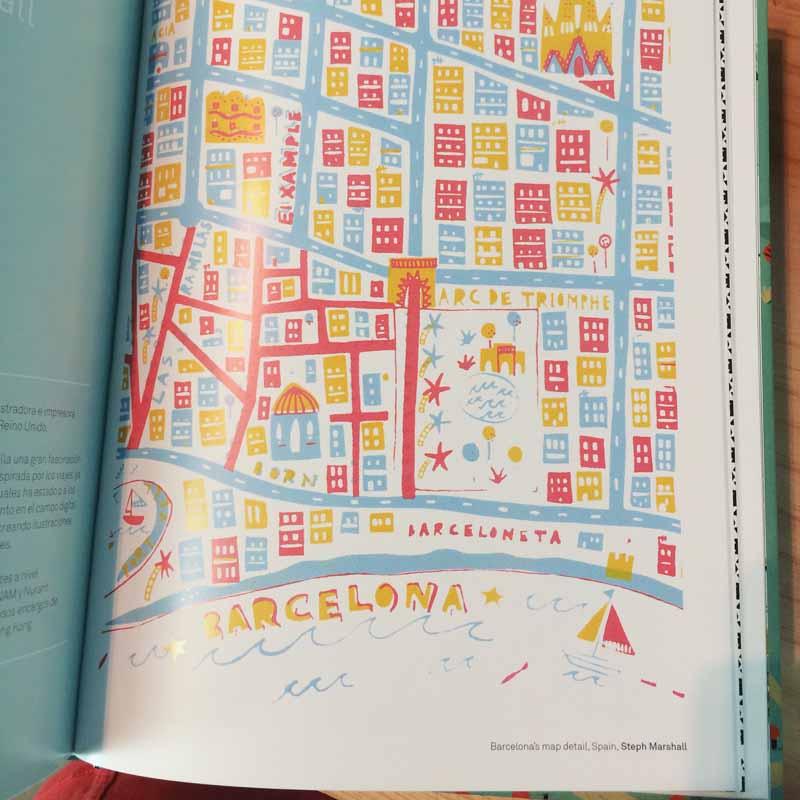 Steph Marshall, mapa de Barcelona ilustracion