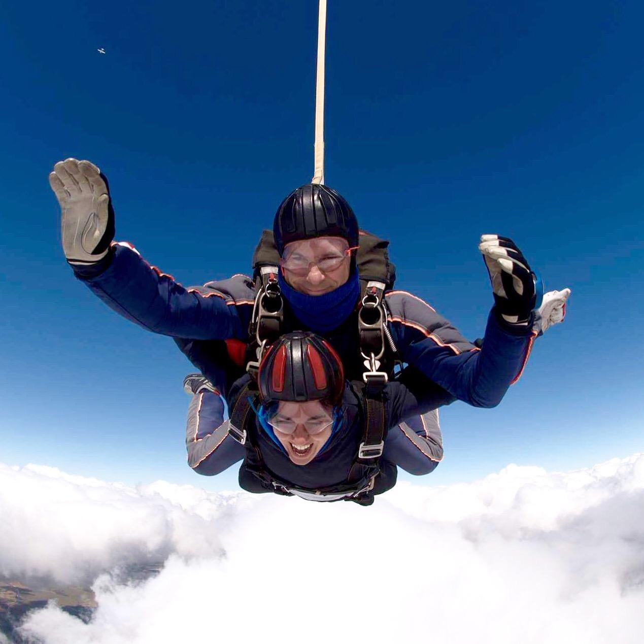 Sobre las nubes: me tiré de un avión a 3000 metros de altura