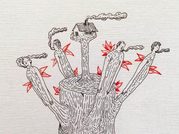 Casas ambulantes, ilustrado por Gabriel Huici